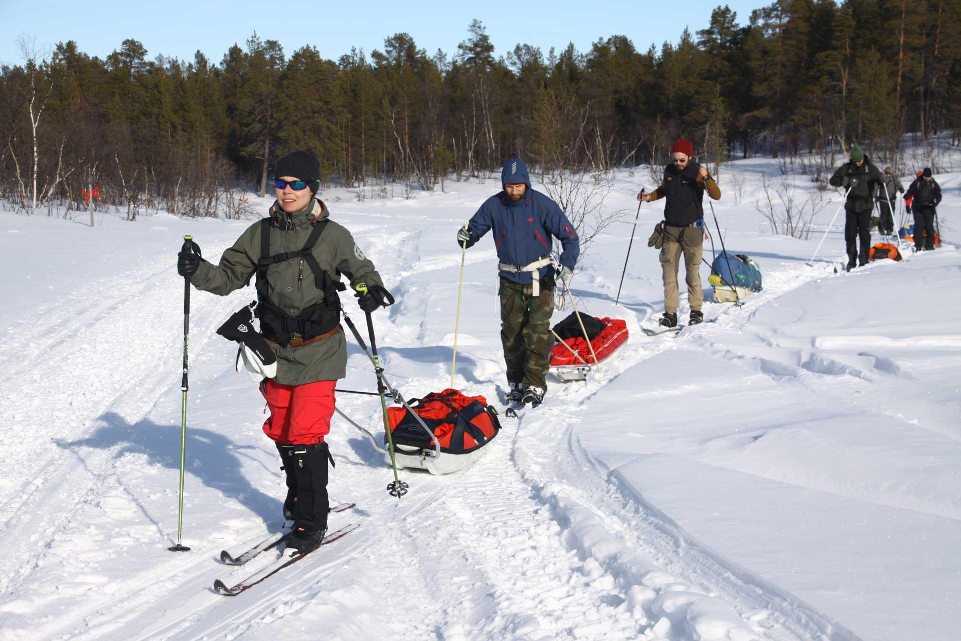 talvivaellus peruskurssi polku nature tours
